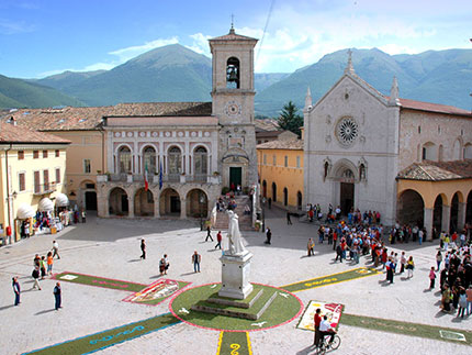 Norcia, history and sacred